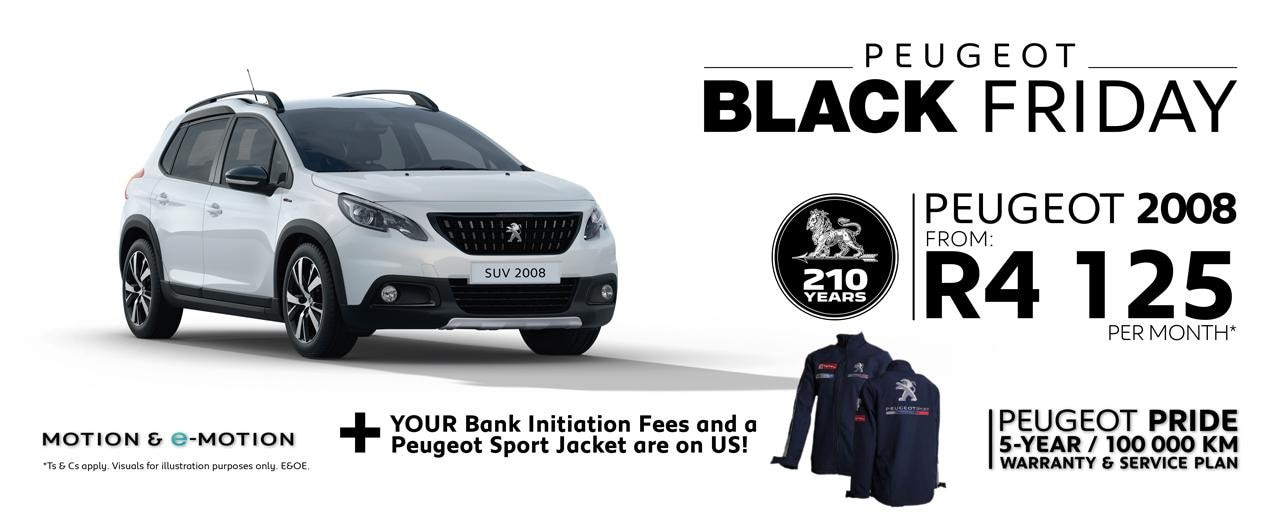 Peugeot 2008 Black Friday