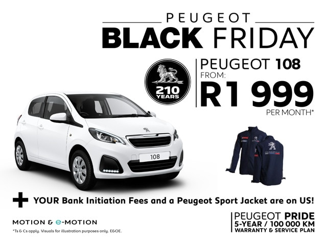 Peugeot 108 Black Friday