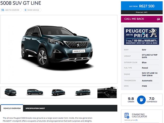 Configure your Peugeot