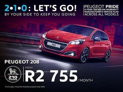 Peugeot 108 from R2 755/month