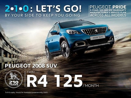 Peugeot 108 from R4 125/month