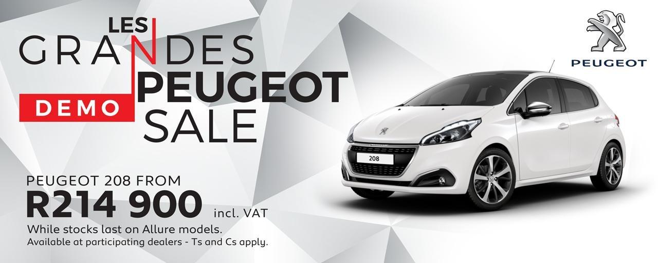 Peugeot Demo Sale